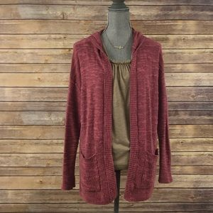 American Eagle Hooded Sweater Cardigan